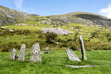 Cashelkeelty Stone Circle, Beara Peninsula, County Kerry, Munster, Republic of Ireland, Europe