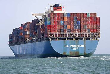 Container ship in the South China Sea, Vietnam, Indochina, Southeast Asia, Asia