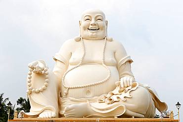 Big Happy Buddha statue, Vinh Trang Buddhist Temple, My Tho, Vietnam, Indochina, Southeast Asia, Asia