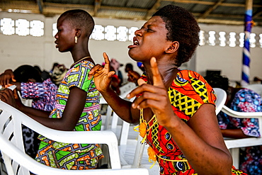 Evangelical church in Lome, Togo, West Africa, Africa