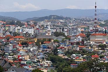 The center of Dalat, Dalat, Vietnam, Indochina, Southeast Asia, Asia