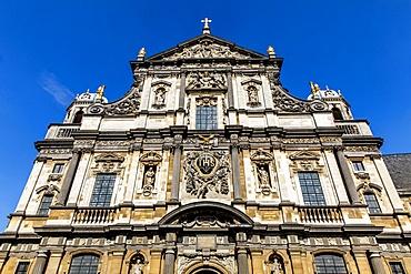 Facade of St. Carolus Borromeus Catholic Church, Antwerp, Belgium, Europe