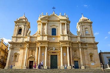 San Nicolo (Nicolas) Basilica-Cathedral, Noto, UNESCO World Heritage Site, Sicily, Italy, Europe