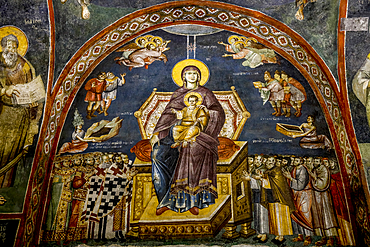 Fresco, Mother of God Peribleptos Church, Ohrid, UNESCO World Heritage Site, Macedonia, Europe