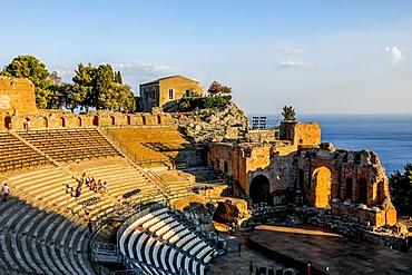 Taormina Greek theater, Taormina, Sicily, Italy, Mediterranean, Europe