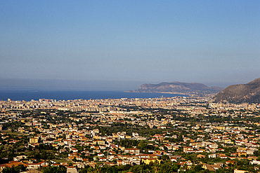 Palermo city seen from Monreale, Sicily, Italy, Mediterranean, Europe