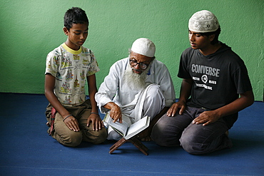 Koran school, Bhaktapur, Nepal, Asia