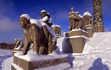 Vigeland's Park, Oslo, Norway, Scandinavia, Europe