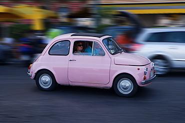 Fiat 500, Naples, Campania, Italy, Europe