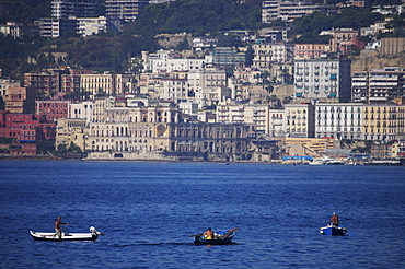 Fishermen, Bay of Naples, Campania, Italy, Europe