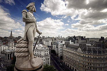 Nelsons Column, Trafalgar Square, London, England, United Kingdom, Europe