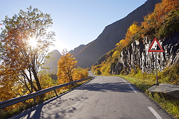 Empty mountain road, Norway, Scandinavia, Europe