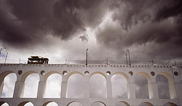 Santa Theresa Tram Viaduct, Rio de Janeiro, Brazil, South America