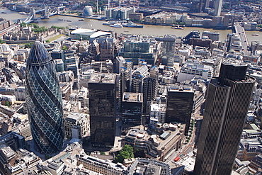 Tower 42, Gherkin and Lloyds Building, City of London, London, England, United Kingdom, Europe