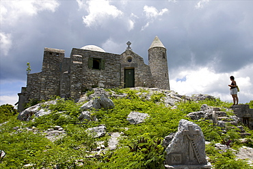 The Church of the Hermit on Como Hill, the highest point of the Bahamas, near the ruins of the Henry Hawkins Armbrister house, the greatest plantation of Cat island, Bahamas, West Indies, Caribbean, Central America