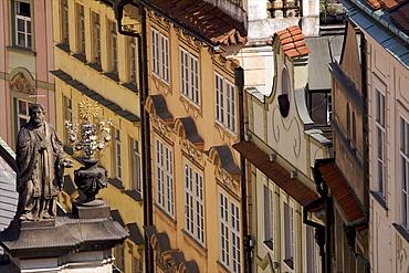 Street of the Jewish ghetto in Prague, Czech Republic, Europe