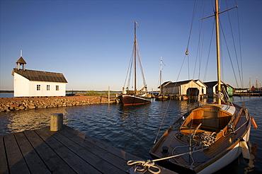 A small wharf on the shore of the main island of Aland archipelago, Finland, Scandinavia, Europe