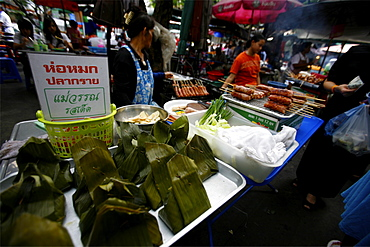 At the central market of Bangkok, Thailand, Southeast Asia, Asia
