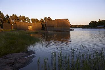 A new design house on the coast of the main island of Aland archipelago, Finland, Scandinavia, Europe