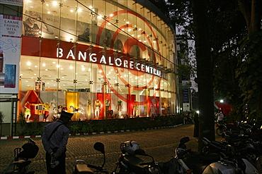 The main commercial center of Bangalore, Karnataka, India, Asia