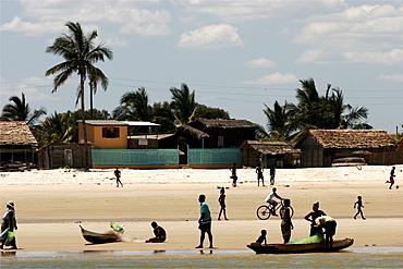 Life on the beach of Morondava, Madagascar, Africa