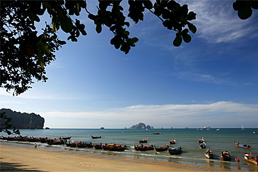 On Ao Nang beach in the Gulf of Krabi, Thailand, Southeast Asia, Asia