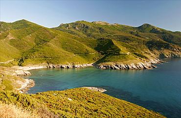 Along the coast of Cap-Corse, Corsica, France, Mediterranean, Europe