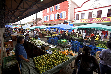 At the market of Cayenne, French Guiana, South America