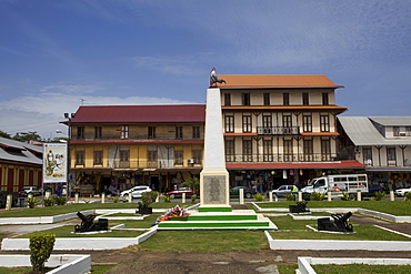 The city center of Cayenne, French Guiana, South America