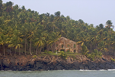 View of Ile Royale, the main island of the Iles du Salut, French Guiana, South America