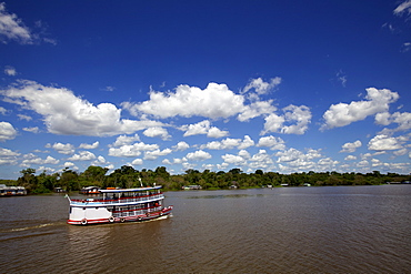 Navigating on the Amazon River, Manaus, Brazil, South America