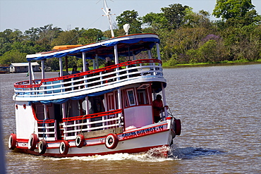 Navigating on the Amazon River, Brazil, South America
