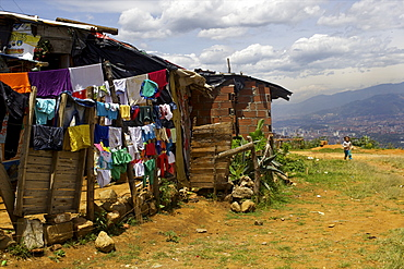 Above Medellin, the Barrios Regalo de Dios, Colombia, South America