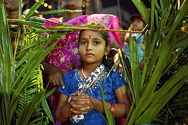 Christian celebration for St. Sebastian birthday in the village of Poovar on the south coast of Kerala, India, Asia