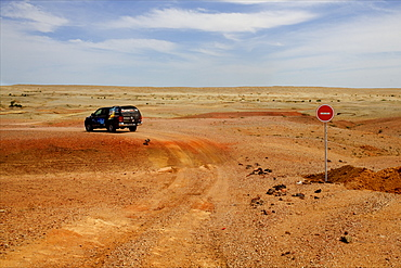 In the middle of the Gobi desert, Mongolian side, Mongolia, Central Asia, Asia
