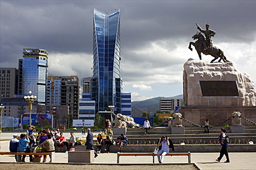 View of the new area of Ulan Bator, Mongolia, Central Asia, Asia