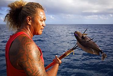 Fakarava island in the Tuamotu archipelago, French Polynesia, Pacific