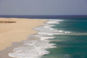 The beach of Praia de Chavez, west coast of Boa Vista, Cape Verde Islands, Atlantic, Africa