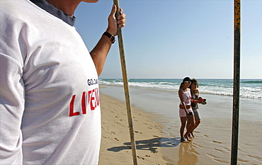A life guard on the Gold Coast in the city of Surfers Paradise, Queensland, Australia, Pacific