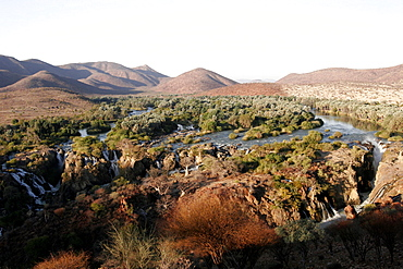 Kunene River and Epupa Falls, in Himba country, on the border with Angola, Namibia, Africa