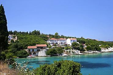 Coast near Fiskardo on the north coast of Cephalonia, Ionian Islands, Greek Islands, Greece, Europe