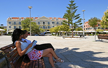 Argostoli, capital of Cephalonia, Ionian Islands, Greek Islands, Greece, Europe