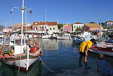 The smalll village of Fiskardo on Cephalonia, Ionian Islands, Greek Islands, Greece, Europe
