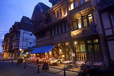A small restaurant in Etretat, Seine Maritime, Normandy, France, Europe