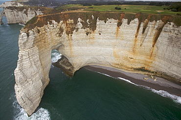 Limestone cliffs in the area of Etretat on the Cote d'Albatre, Seine Maritime, Normandy, France, Europe