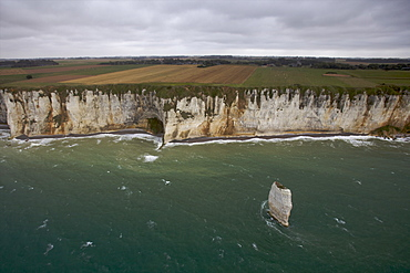 Limestone clliffs in the area of Etretat on the Alabaster Coast, Seine Maritime, Normandy, France, Europe