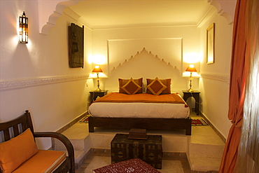 A room in the Riad Blanc in the medina of Marrakech, Morocco, North Africa, Africa