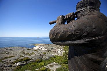 A statue on Kobba Klintar island in the Aland archipelago, Finland, Scandinavia, Europe