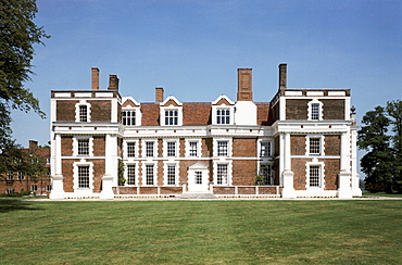 The south facade of the house, Hill Hall, Essex, England, United Kingdom, Europe