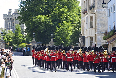 Changing of the guard at Windsor Castle, Windsor, Berkshire, England, United Kingdom, Europe